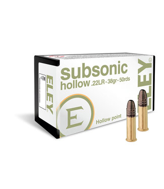 ELEY Subsonic 22LR 38GR HP [300RND REC-PAK]