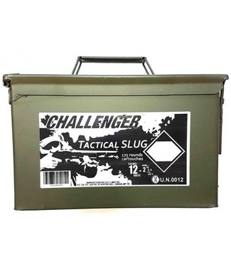 "CHALLENGER Tactical Slug 12GA 2.75"" 1OZ SLUG 175 ROUND CAN [LOW-RECOIL]"