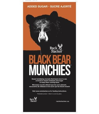RACK STACKER INC. Rack Stacker Black Bear Munchies w added sugar 40lb