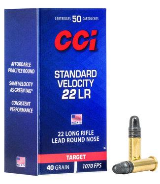 CCI Standard Velocity 22 LR 40GR [1070 FPS] 50PK