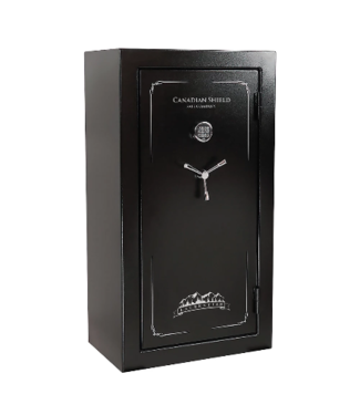 'Canadian Shield-Laurentien 32 + 6 -Gun Safe with Electronic Lock, Textured Gloss Black