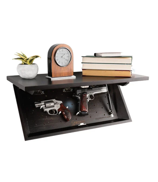 LOCKDOWN In Plain Sight Lockable Storage Shelf [Dark Walnut Finish]