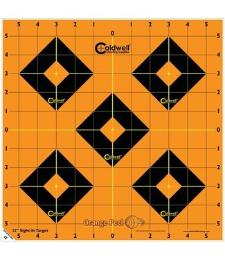 "CALDWELL CALDWELL ORANGE PEEL 12"" SIGHT-IN TARGETS [5-PACK]"