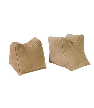 CHAMPION Leather Sand Bag Shooting Rest  [Suede - Pair]