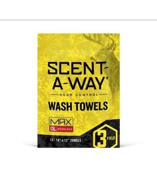 HUNTER SPECIALTIES Scent-A-Way MAX Wash Towels [12-PK]