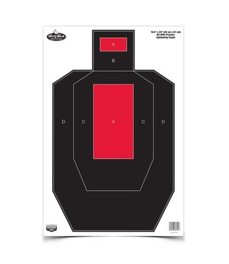 BIRCHWOOD DIRTY BIRD® 16.5 X 24 BC-IPSC PRACTICE TARGET, 3 TARGETS