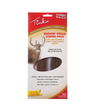 TINKS Tink's® Smokin' Sticks #69-X® & Sweet Honeysuckle Combo Deer Scent