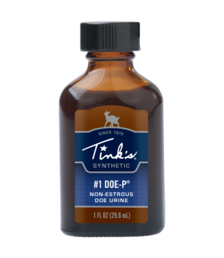 TINKS Tink's® #1 Doe-P® Synthetic Deer Scent Classic Glass Bottle Deer Scent