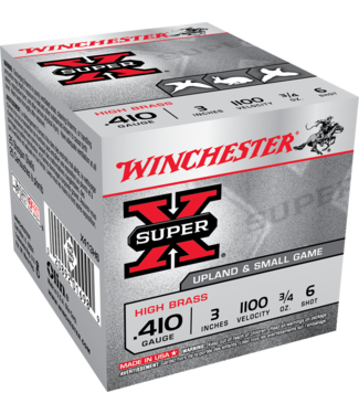"WINCHESTER Super-X High Brass 410GA 3"" 3/4OZ #6"