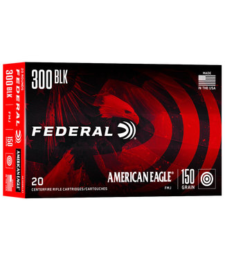 FEDERAL AMMO American Eagle Rifle 300 BLACKOUT 150GR FMJ BOAT-TAIL