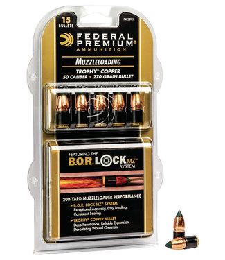 B.O.R. LOCK Trophy Copper Muzzleloader Bullet .50