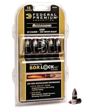 B.O.R. LOCK  Lead Tipped Muzzleloader Bullet .50