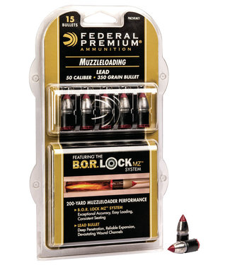 FEDERAL B.O.R. LOCK  Lead Tipped Muzzleloader Bullet .50