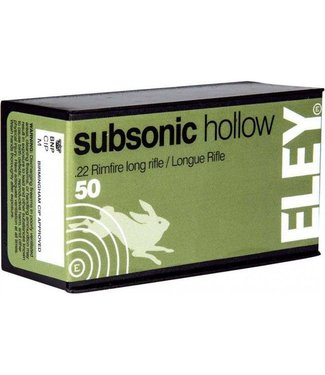 ELEY Eley Subsonic Hollow 22LR 38GR HP [1040 FPS]