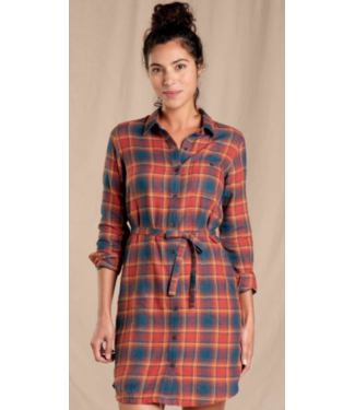 TOAD & CO TOAD & CO RE-FORM FLANNEL SHIRTDRESS