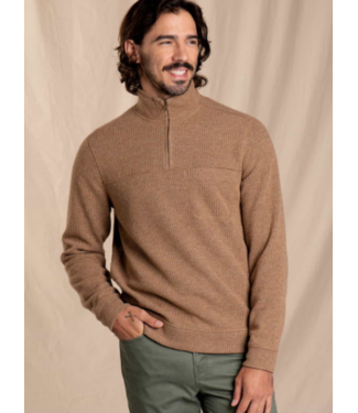 TOAD & CO TOAD & CO MENS BREITHORN 1/4 SWEATER