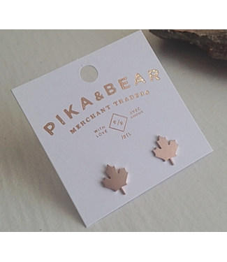PIKA & BEAR PIKA & BEAR MAPLE LEAF EARRING