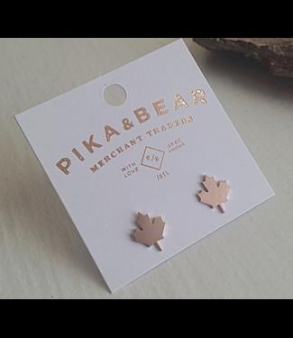 PIKA & BEAR PIKA & BEAR MAPLE LEAF EARRING