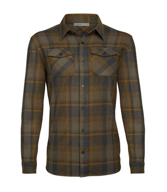 ICEBREAKER Icebreaker Men's Merino Lodge Long Sleeve Flannel Shirt