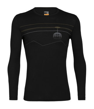ICEBREAKER Icebreaker Men's Merino 200 Oasis Long Sleeve Crewe Thermal Top Peak to Peak Lift