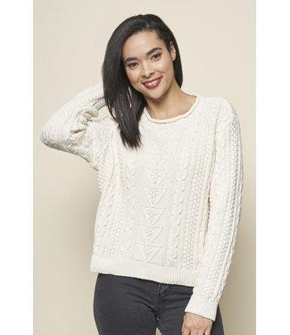 PARKHURST Parkhurst Jennifer Eco Cotton Cable Pullover Sweater