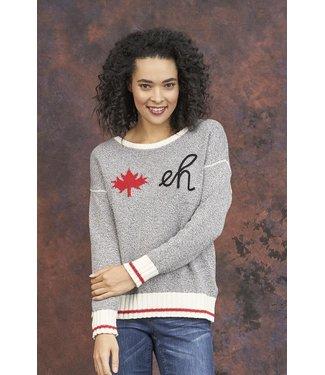 "PARKHURST Parkhurst Canadiana Eco Cotton ""Eh"" Pullover Sweater"