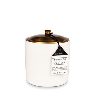 PADDYWAX 15 OZ HYGEE WHITE CERAMIC CANDLE