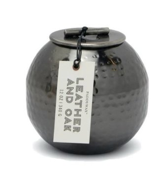 PADDYWAX PATINA 12OZ HAMMERED METAL CONTAINER CANDLE