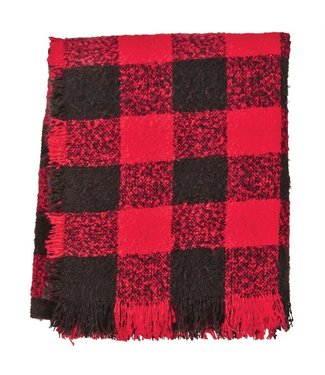 MUD PIE MUDPIE BOUCLE BUFFALO CHECK THROW BLANKET