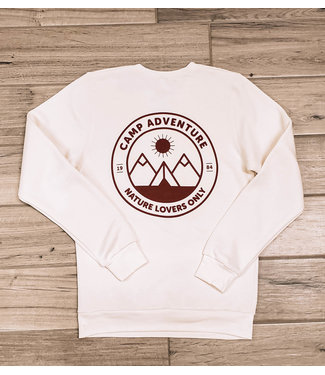 WHISKEY JACK WHISKEY JACK UNISEX CAMP ADVENTURE CREWNECK FLEECE