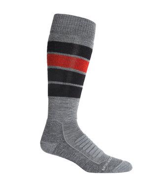 Icebreaker Men's Merino Ski+ Medium Over the Calf Socks Heritage Stripe
