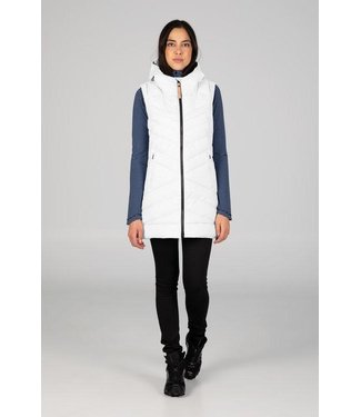 INDYGENA INDYGENA DOLGA SLEEVELESS LONG VEST WITH HOOD