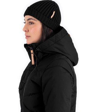 INDYGENA INDYGENA CABEZA - ASYMETRICAL HEM CASHMERE BLEND HAT