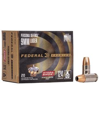 FEDERAL AMMO Federal Hydra-Shok 9mm 124gr. JHP