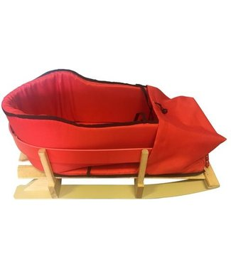 TRADITIONAL  KIDS WOODEN RED W/CUSHION