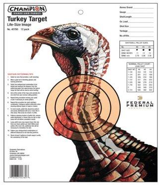 CHAMPION CHAMPION LIFESIZE TURKEY TARGET [12PK]