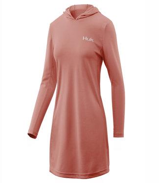 HUK WOMEN'S ICON X HOODED DRESS