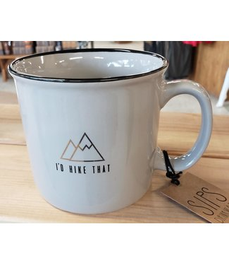 DESIGN HOME GIFT & PAPER INC GREY CAMPFIRE MUG HIKE