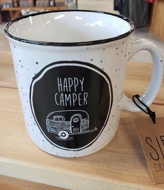 DESIGN HOME GIFT & PAPER INC WHITE CAMPFIRE MUG CAMPER
