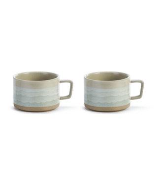 Sea Waves Soup Mug Set of 2
