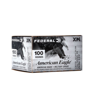 FEDERAL AMMO American Eagle Rifle 223 REM 55GR FMJ [100RND BULK PACK]