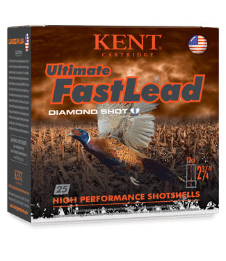 "KENT CARTRIDGE KENT ULTIMATE FASTLEAD HIGH BRASS 20GA 2.75"" 1OZ #6 [1250 FPS]"