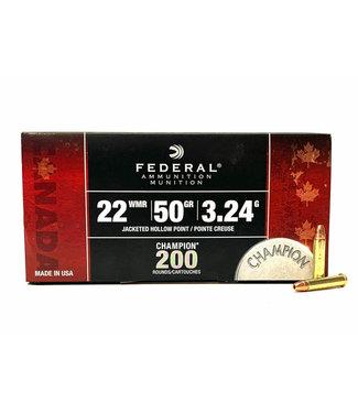 FEDERAL AMMO Federal Champion 22WMR 50GR  JHP [1530FPS] [200 RND BULK PACK]