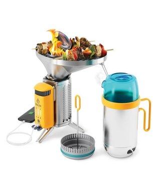 Biolite CampStove Complete Cook Kit Portable Wood Cooking System