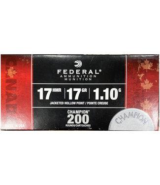 FEDERAL AMMO Federal Champion 17HMR  17GR  JHP [2550 FPS] [200 RND BULK PACK]