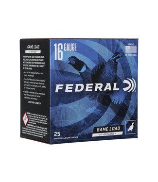 "FEDERAL AMMO FEDERAL GAME LOAD UPLAND HI-BRASS 16GA 2.75"" 1 1/8OZ #4 [1295 FPS]"