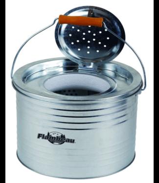 FLAMBEAU Flambeau Galvanized Floating Minnow Bucket - 8 QT.