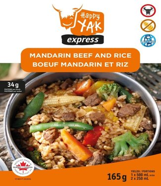 HAPPY YAK Happy Yak Manadarin Beef and Rice