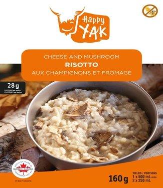 HAPPY YAK Happy Yak Cheese and Mushroom Risotto