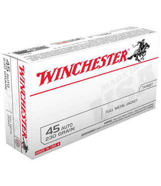 Winchester USA Target 45ACP 230GR  FMJ [BRASS]